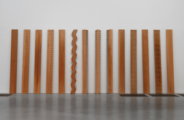 Susumu Koshimizu From Surface to Surface 1971, remade 1986, wood, 3000 x 8100 x 100 mm. Tate collection, purchased with funds provided by the Asia Pacific Acquisitions Committee 2008. © Susumu Koshimizu